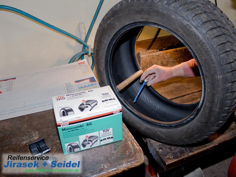 Runflat Reifen Flicken